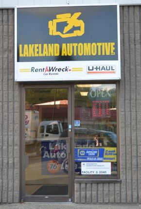 Lakeland Automotive - The front of our auto repair shop | Campbell River oil change